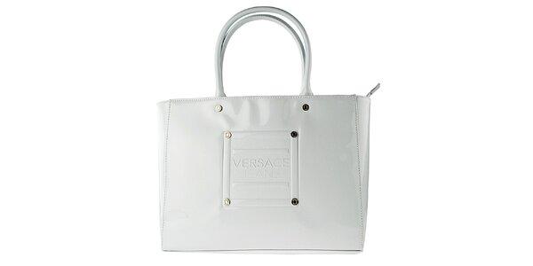 Dámská lakovaná bílá kabelka Versace Jeans