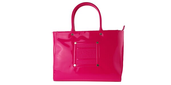Dámská lakovaná růžová kabelka Versace Jeans