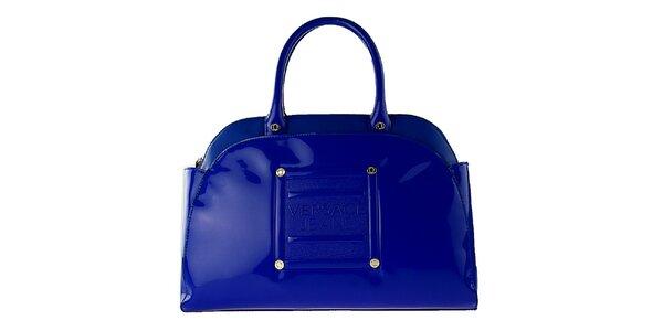 Dámská královsky modrá lakovaná kabelka Versace Jeans