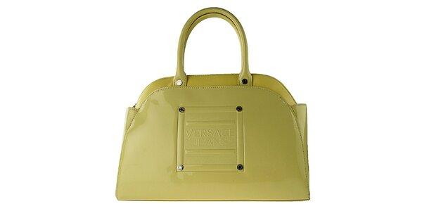 Dámská žluto-zlatá lakovaná kabelka Versace Jeans