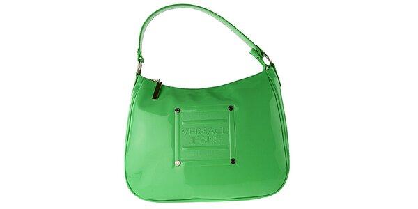 Dámská zelená lakovaná kabelka Versace Jeans