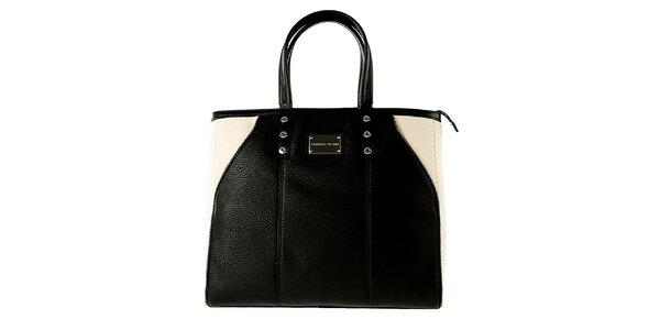 Dámská černo-béžová kabelka Versace Jeans