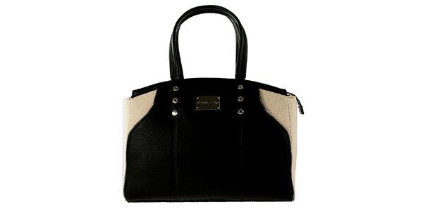 Dámská černo-krémová kabelka Versace Jeans