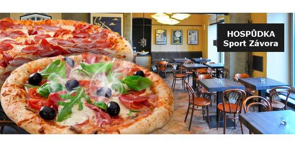 Dvě skvělé pizzy dle výběru