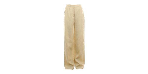 Dámské dlouhé žluté kalhoty Max Mara
