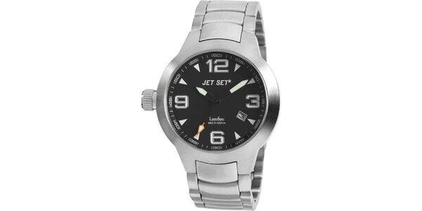 Ocelové hodinky Jet Set s černým ciferníkem