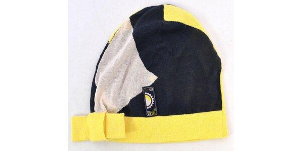 Dámská modro-žlutá čepice Disel