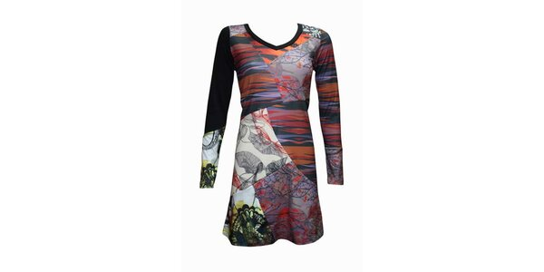 Dámské pestrobarevné šaty Smash s potiskem