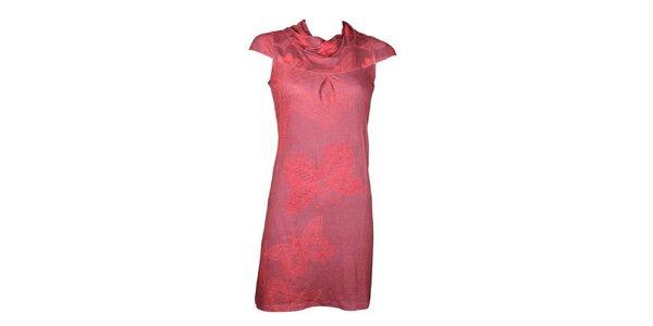 Dámské růžové šaty Smash s motýly