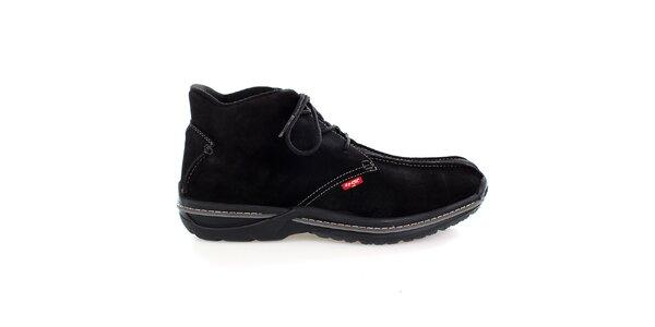 Pánské černé semišové kotníkové boty Levis