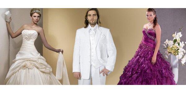 Zapůjčení šatů či obleku na ples nebo na svatbu