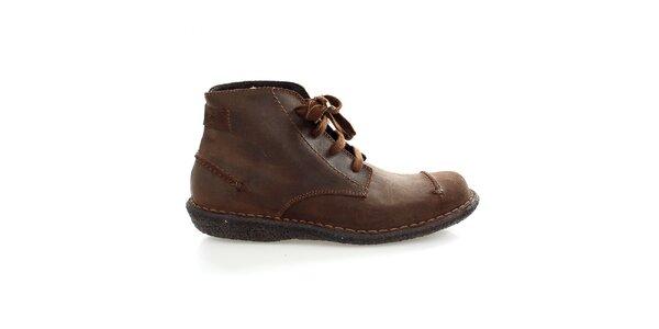 Pánské hnědé kotníčkové boty Levis