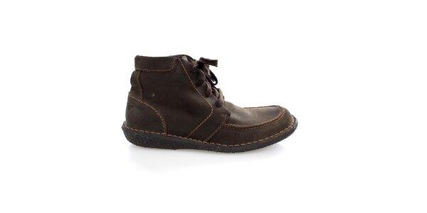 Pánské kotníčkové hnědé boty Levis
