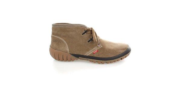 Pánské kotníčkové béžové boty Levis