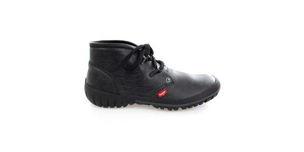 Pánské kotníčkové černé boty Levis