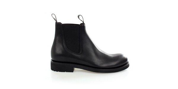 Pánské černé kožené chelsea boots Levis