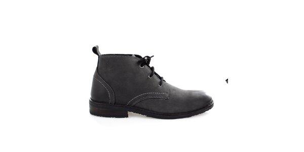 Pánské kožené černé boty Levis