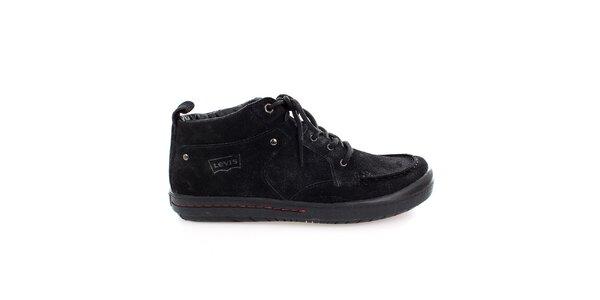 Pánské černé semišové boty Levis