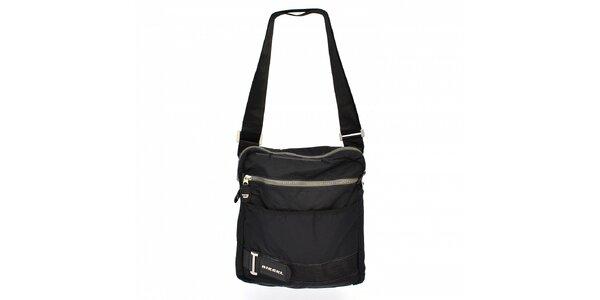 Pánská černá textilní taška Diesel