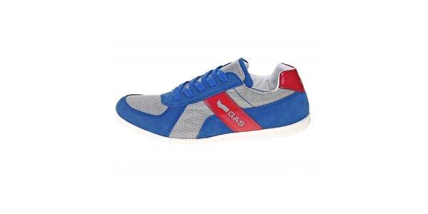 Pánské modré tenisky s červeným pruhem GAS