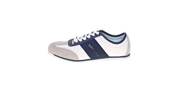 ccb1b83abab Pánské modro-bílé kožené tenisky GAS