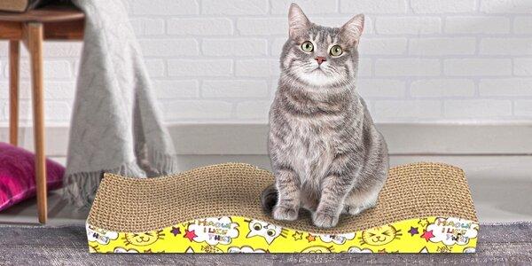Kartonové škrabadlo pro kočky a jejich drápky