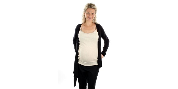 Dámský černý asymetrický svetřík Next Maternity