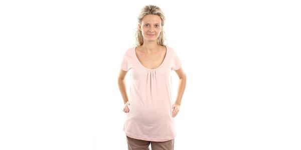 Dámské růžové těhotenské tričko Next