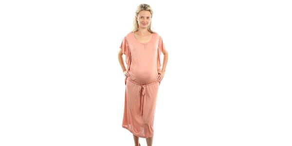 Dámské lososově růžové těhotenské šaty Next Maternity