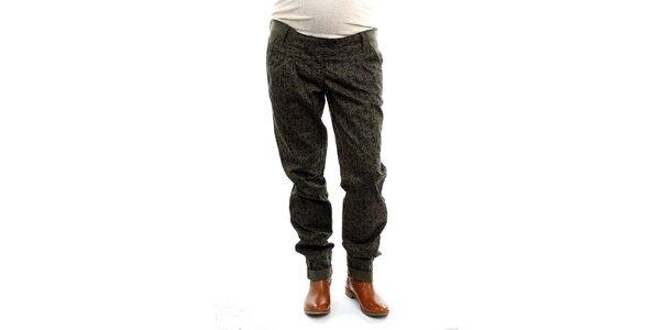 Dámské těhotenské khaki kalhoty s potiskem Next Maternity