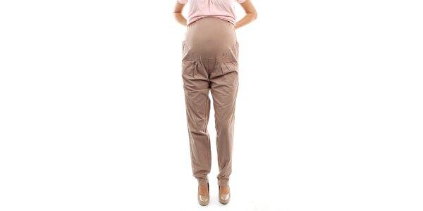 Dámské béžové těhotenské kalhoty s pružným nápletem Next Maternity
