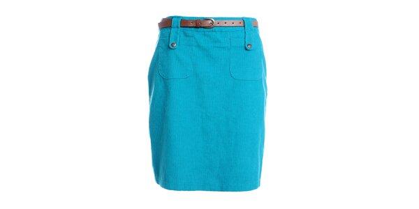 Dámská modrá pouzdrová sukně do pasu Yumi