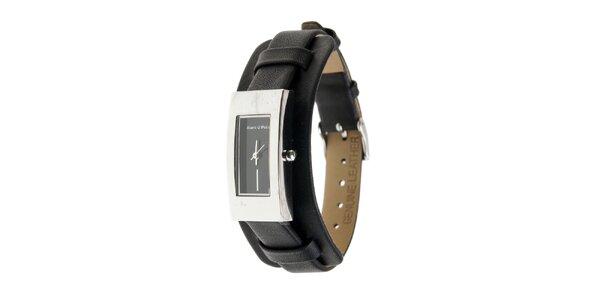 Dámské hodinky Marc O´Polo s černým koženým řemínkem