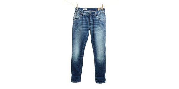 Dámské modré vyšisované džíny Pepe Jeans