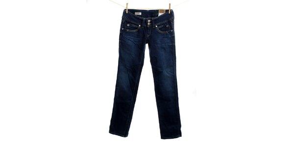 Dámské tmavě modré rovně střižené džíny Pepe Jeans
