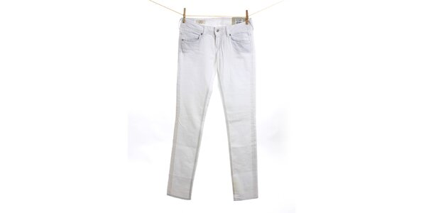 Dámské bílé slim fit džíny Pepe Jeans