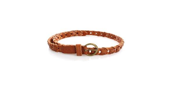 Dámský karamelový kožený pásek Pepe Jeans