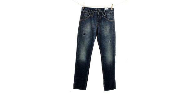 Pánské tmavě modré džíny se záplatami Pepe Jeans