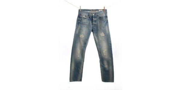 Pánské světle modré džíny s prodřením Pepe Jeans
