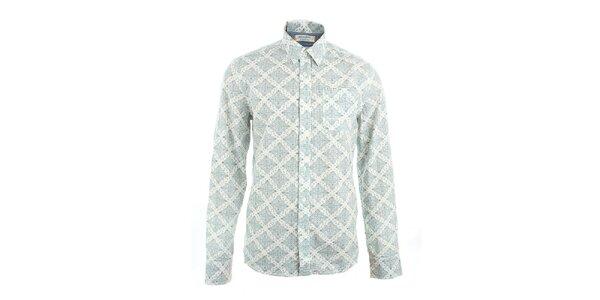 Pánská bílá košile s potiskem Pepe Jeans