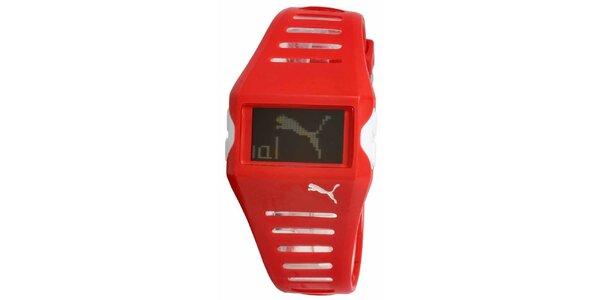 Červené digitální hodinky Puma