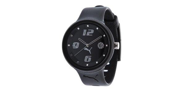 Dámské černé analogové hodinky Puma