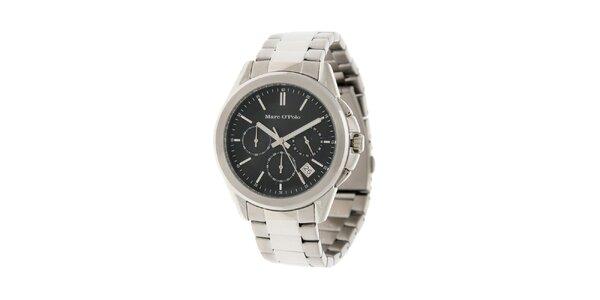 Pánské náramkové hodinky Marc O´Polo s černým ciferníkem