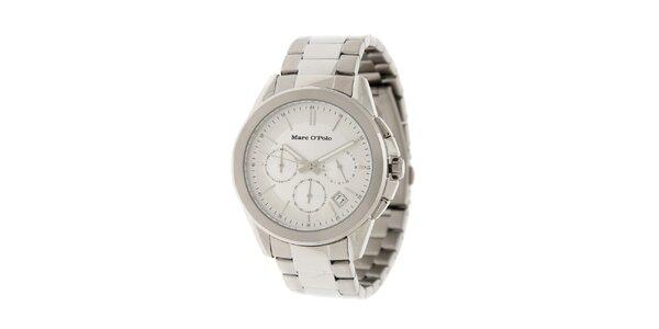 Pánské náramkové hodinky Marc O´Polo se stříbrným ciferníkem