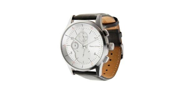 Pánské hodinky Marc O´Polo s tmavě šedým koženým páskem