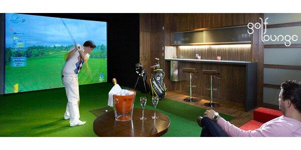 Dvě hodiny na golfovém simulátoru až pro 4 hráče