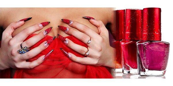 Modeláž nehtů gelem včetně zdobení