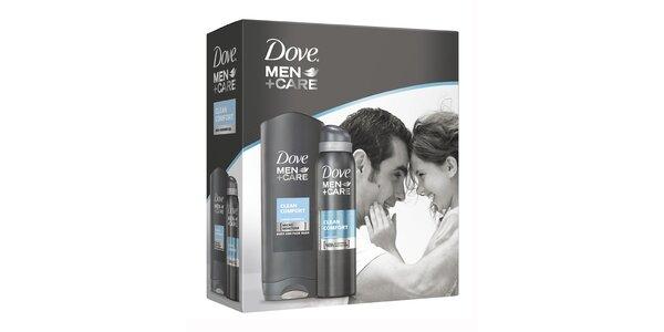 Dove For Men kazeta Clean Comfort (deo 150ml+sprch.gel 250 ml )