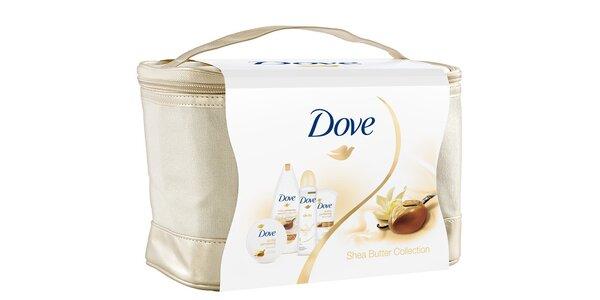 Dove kosmetická taška Shea butter + Silk deo (sprch.gel 250ml+těl.krém 300ml…