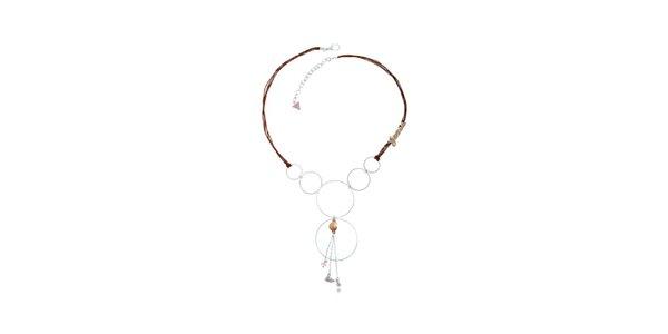 Dámský náhrdelník s kolečkovými přívěsky Guess